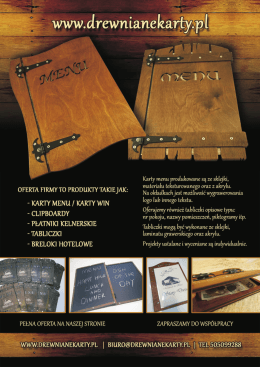 katalog kart menu - Drewnianekarty.pl