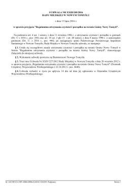 b) Uchwała Nr XXIII/205/2016 w sprawie: przyjęcia