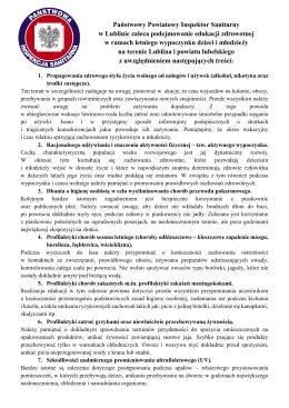 Państwowy Powiatowy Inspektor Sanitarny w Lublinie zaleca