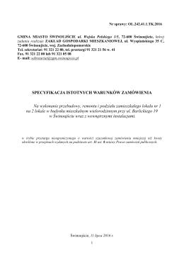 Specyfikacja - Urząd Miasta Świnoujście