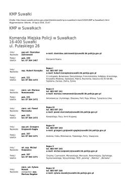 Generuj PDF - KMP Suwałki
