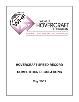 Hovercraft Speed Record Competition Regulations