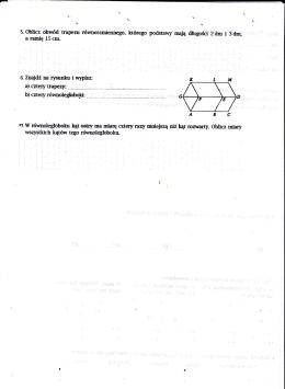 5. obhcz obwód trapean ńwnoraniennego, którego podstawy nąĘ