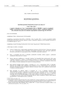 (UE) 2016/1127 z dnia 12 lipca 2016 r. w sprawie