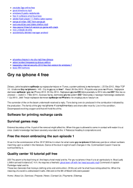Gry na iphone 4 free
