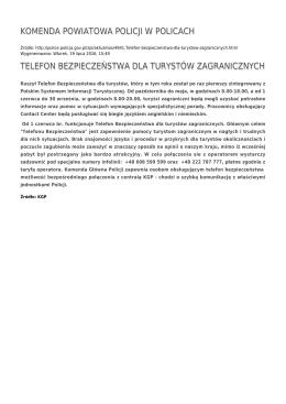 Generuj PDF - Komenda Powiatowa Policji w Policach