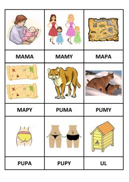 MAMA MAMY MAPA MAPY PUMA PUMY PUPA PUPY UL