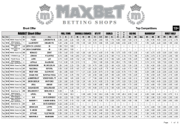 Short Offer Top Competitions MAXBET Short Offer