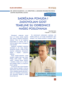 intervju – dr. senad selimović