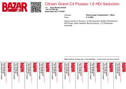 Citroen Grand C4 Picasso 1,6 HDi Seduction EGS6 FAP