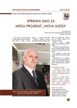 intervju prof.dr. senaid memić, načelnik općine ilidža