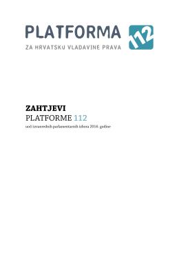 zahtjevi platforme 112