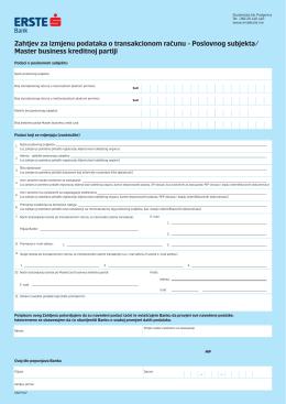 Zahtjev za izmjenu podataka o transakcionom računu_Master