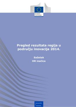 Pregled rezultata regija u području inovacija 2014.