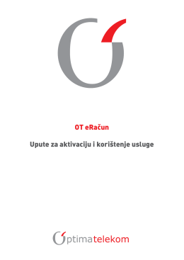 Upute za aktivaciju usluge OT eRačun