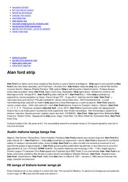 Alan ford strip