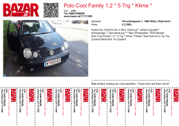 Polo Cool Family 1,2 * 5 Trg * Klima * Pickerl