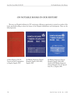 ON NOTABLE BOOKS IN OUR HISTORY