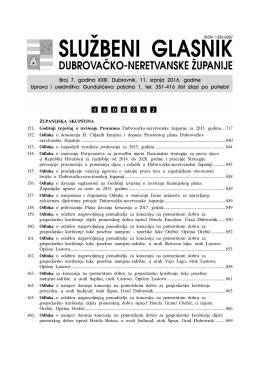 neretvanske županije, broj 7/16, objavljen 11. srpnja 2016.