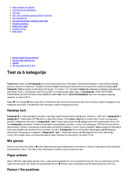 Test za b kategorija