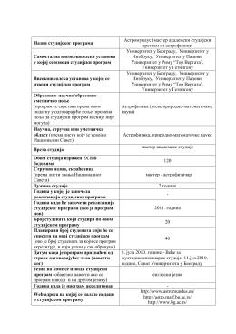 Astomundus - Fakulteti