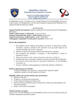 Republika e Kosovës - Agjencia Kundër Korrupsionit