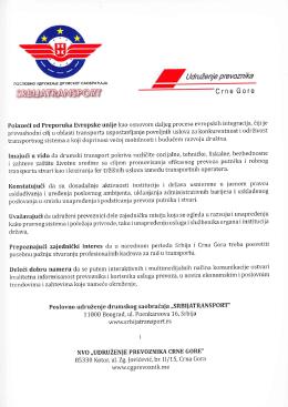 ne Gore - Srbijatransport