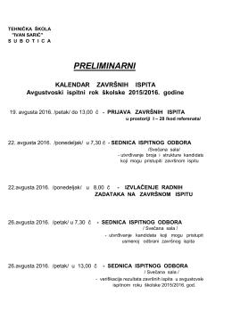 """preliminarni - Tehnička škola """"Ivan Sarić"""""""