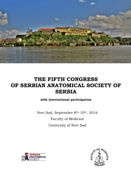 the fifth congress of serbian anatomical society of serbia