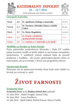 Kat Inf 29 tyzden 16 - Katedrála Banská Bystrica