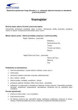 Vozmajster - spsdopke.edu.sk