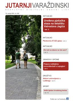 Uređena pješačka staza na šetalištu Vatroslava Jagića