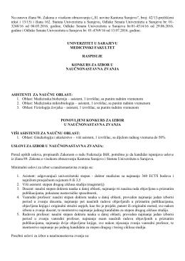 """Na osnovu člana 96. Zakona o visokom obrazovanju (""""Sl. novine"""