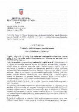 Tekst javnog poziva - Krapinsko