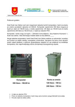 Komposter 350 litara - 180,00 kn Kanta za smeće 120 litara