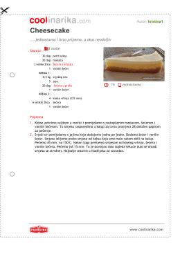 Cheesecake - Coolinarika