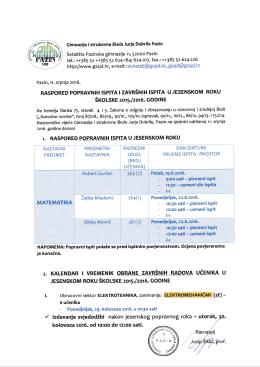 ry - Gimnazija i strukovna škola Jurja Dobrile Pazin