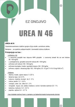 UREA 46 N Primjenjuje se kao
