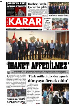 21 Temmuz 2016 - Kesin Karar Gazetesi