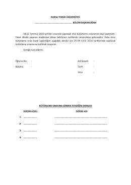 bölüm başkanlığına 18-22 t - Bursa Teknik Üniversitesi