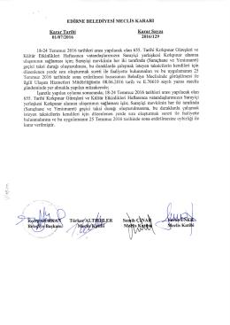 2016 Ulaşım Hizmetleri Müdürlüğü TEMMUZ ayı