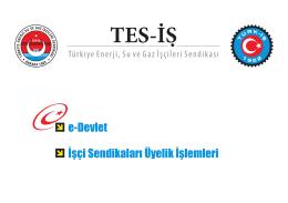 e-Devlet Üyeliği Görsel Anlatımı - Tes-İş