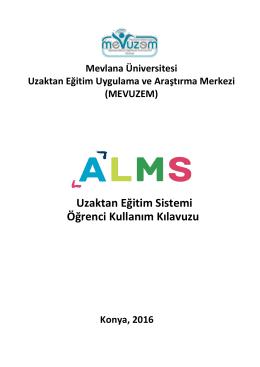Öğrenci Kılavuzu - Mevlana Üniversitesi Uzaktan Eğitim Merkezi