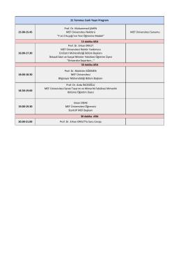 21 Temmuz Program - MEF Üniversitesi