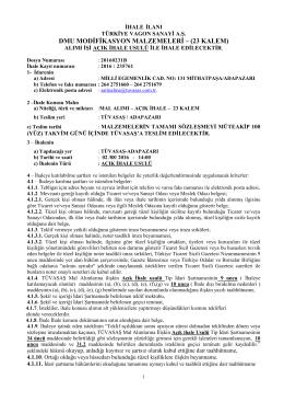 20160231b ilan - dmu modifikasyon malzemeleri (44 kalem)