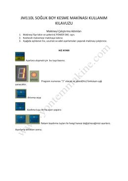jm110l soğuk boy kesme makinası kullanım kılavuzu