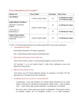 Ücret Politikası - Yüksek İhtisas Üniversitesi