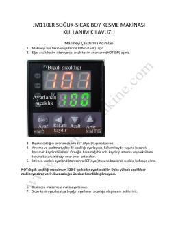jm110lr soğuk-sıcak boy kesme makinası kullanım kılavuzu