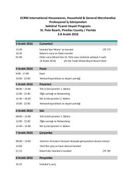 Taslak Program (1 sayfa)