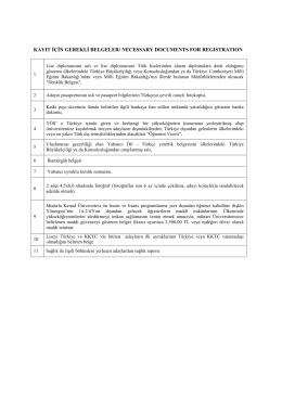 kayıt için gerekli belgeler/ necessary documents for regıstratıon